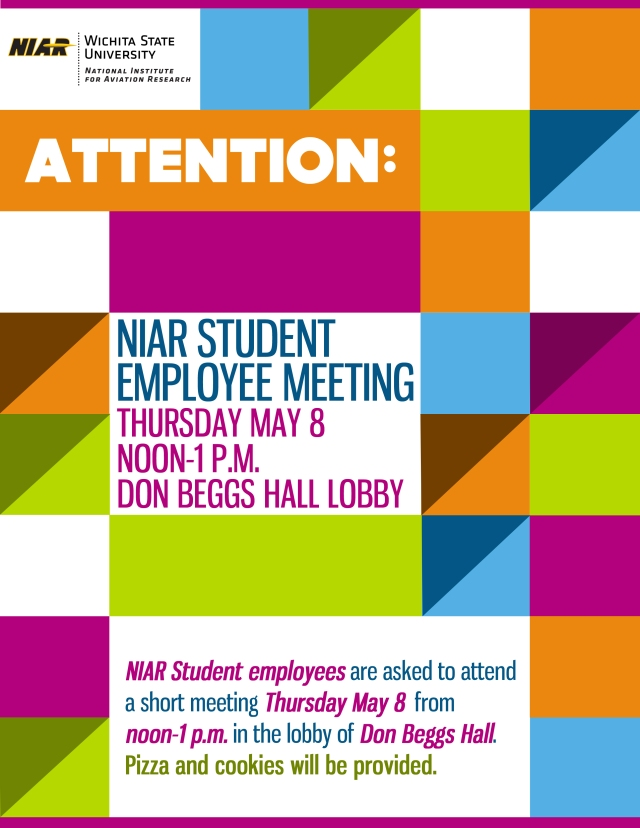 NIAR Student Employee Meeting