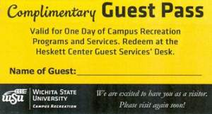 Complimentary Guest Pass